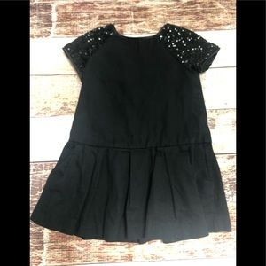Gap girls dress with sequin sleeves size xs